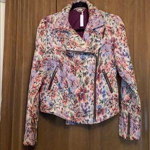 Free People floral tapestry Moto jacket, 12